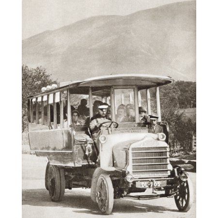 A 1913 Southdown Motor Service Daimler Charabanc From The Story Of 25 Eventful Years In Pictures Published 1935 Canvas Art - Ken Welsh Design Pics (26 x 34)
