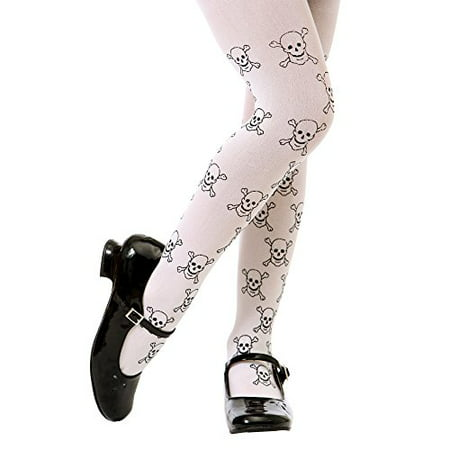 Boo! Inc. White Mid-rise Pirate Skulls Halloween Children's Cosplay Costume Tights - Mid Valley Halloween