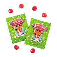 Fun Express - Rudolph Gummy Funpack for Christmas - Edibles - Soft & Chewy Candy - Gummy - Christmas - 24 Pieces