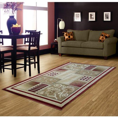 Brady Home Red Area Rug