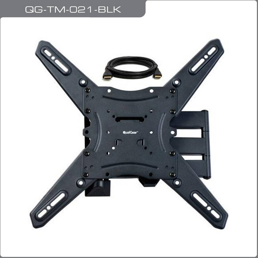 "QualGear QG-TM-021-BLK Universal Ultra-Slim Low-Profile Articulating Wall Mount for 15""-55"" LED TVs"