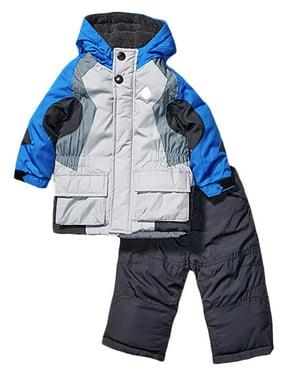 London Fog Boys Heavy Weight Jacket (Coat) Snow Pants Blue 7