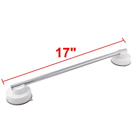 unique bargains bathroom space saving suction cup towel bar storage rack shelf hanger. Black Bedroom Furniture Sets. Home Design Ideas