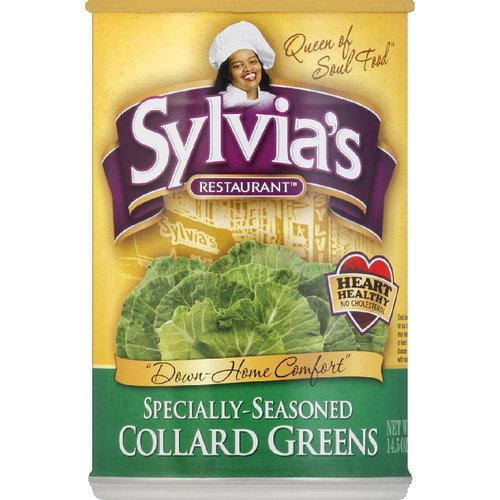 Sylvia's Restaurant Specially Seasoned Collard Greens, 14.5 oz (Pack of 12)