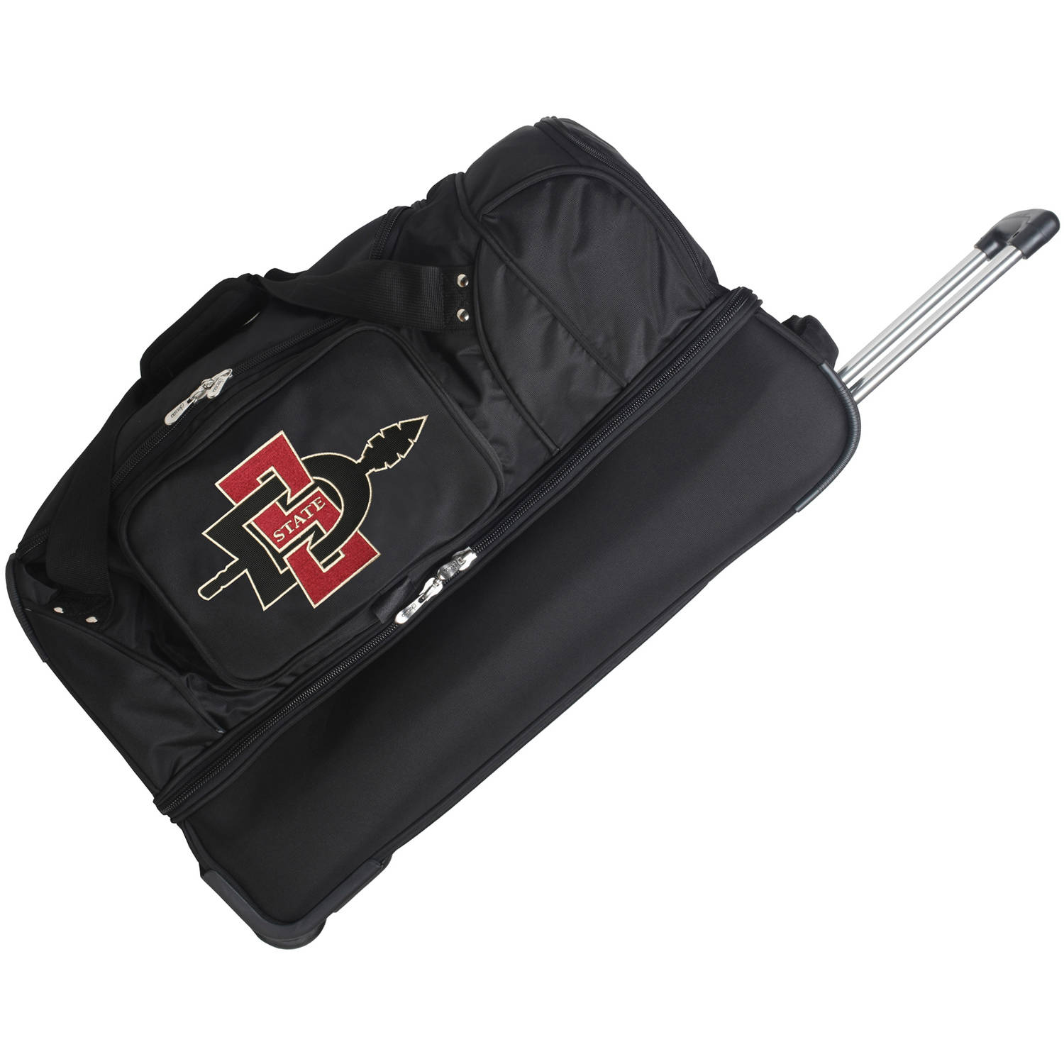 "Denco NCAA 27"" Rolling Drop Bottom Duffel, San Diego State"