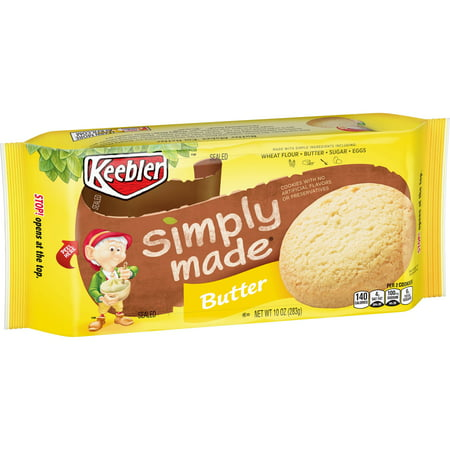 (2 Pack) Keebler Simply Made Butter Cookies 10 oz. Pack