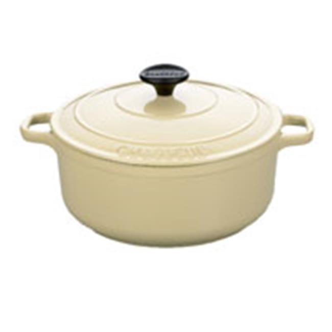 Cuisine A1716316 1.75 Quart Cream Round Dutch Oven