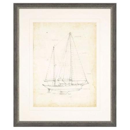 Paragon sailboat blueprint vi framed wall art walmart paragon sailboat blueprint vi framed wall art malvernweather Image collections