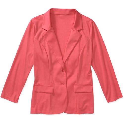 Women's Plus-Size Colored Knit Blazer