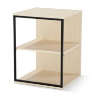 Mainstays Kalla Wood and Metal 3-Shelf End Table