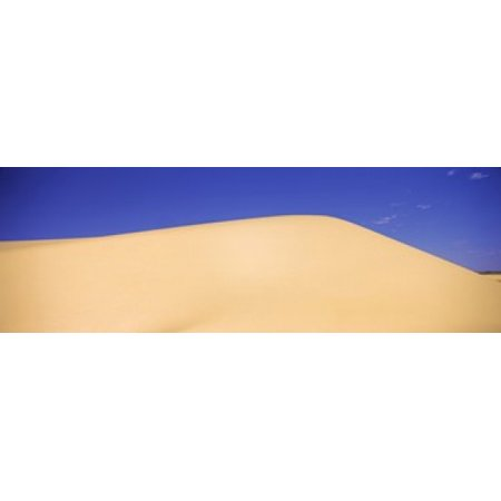 Sand Dunes In A Desert White Sands National Monument New Mexico Usa Poster Print