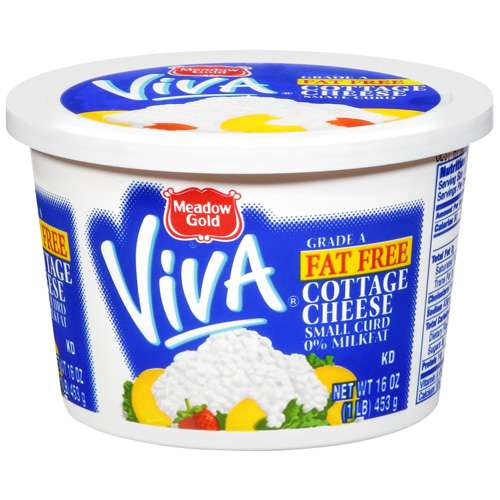 Meadow Gold Viva Fat Free Small Curd Cottage Cheese, 16 oz by Dean Foods
