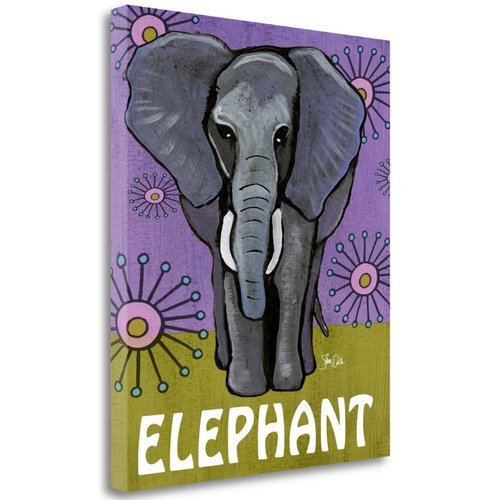 Tangletown Fine Art 'Elephant' Graphic Art Print on Wrapped Canvas