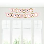 Fun to be One - 1st Birthday Girl - Happy Birthday Garland Banner