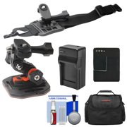 Essentials Bundle for GoPro HD HERO 3 Action Camcorder with Curved Helmet & Arm Mounts + Battery + Charger + Case + Accessory Kit