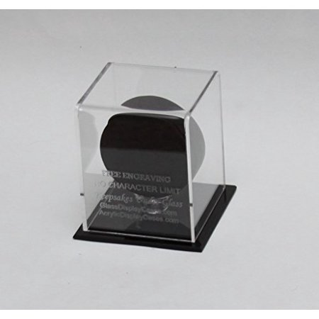 Hockey Puck Personalized Laser Etched - Engraved Acrylic Display Case - Custom Stand