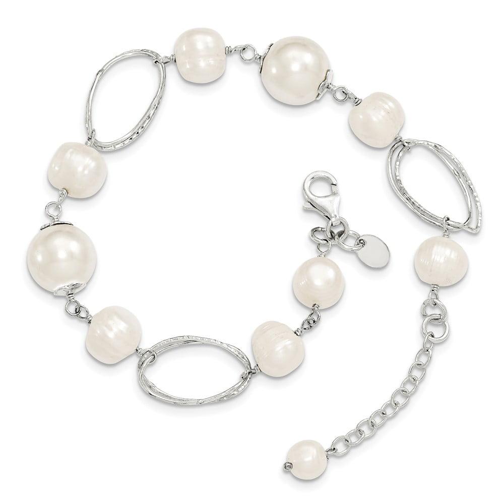 Sterling Silver Freshwater Cultured Pearl 8.5in Bracelet