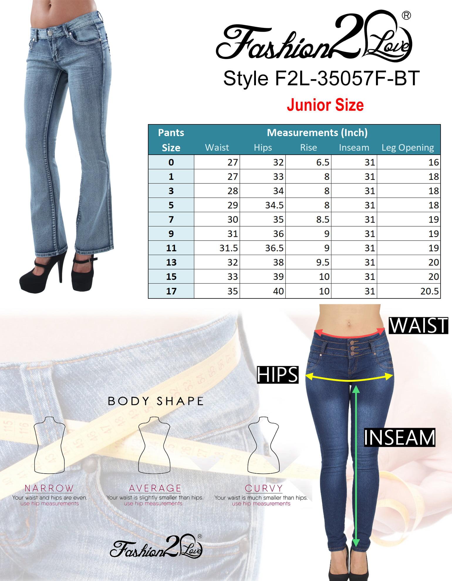 Boot Leg Jeans Mid Waist Butt Lift Colombian Design