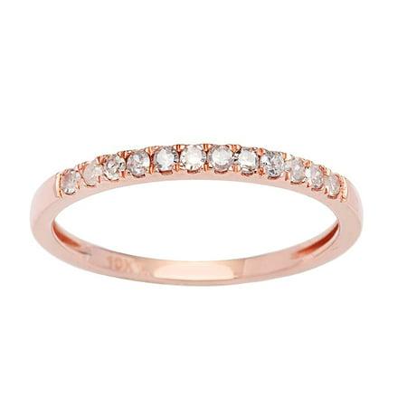 10k Rose Gold Stackable Diamond Wedding Band (1/6 cttw, I-J Color, I2-I3 Clarity) - Rose Gold Wedding Colors