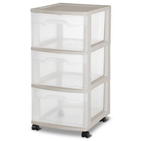 Sterilite 3 Drawer Medium Cart Grey Pumice, Set of 2 - Walmart.c