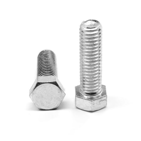 "1/4""-20 x 1"" (FT) Coarse Thread A307 Grade A Hex Tap (Full Thread) Bolt Low Carbon Steel Zinc Plated Pk 2300"