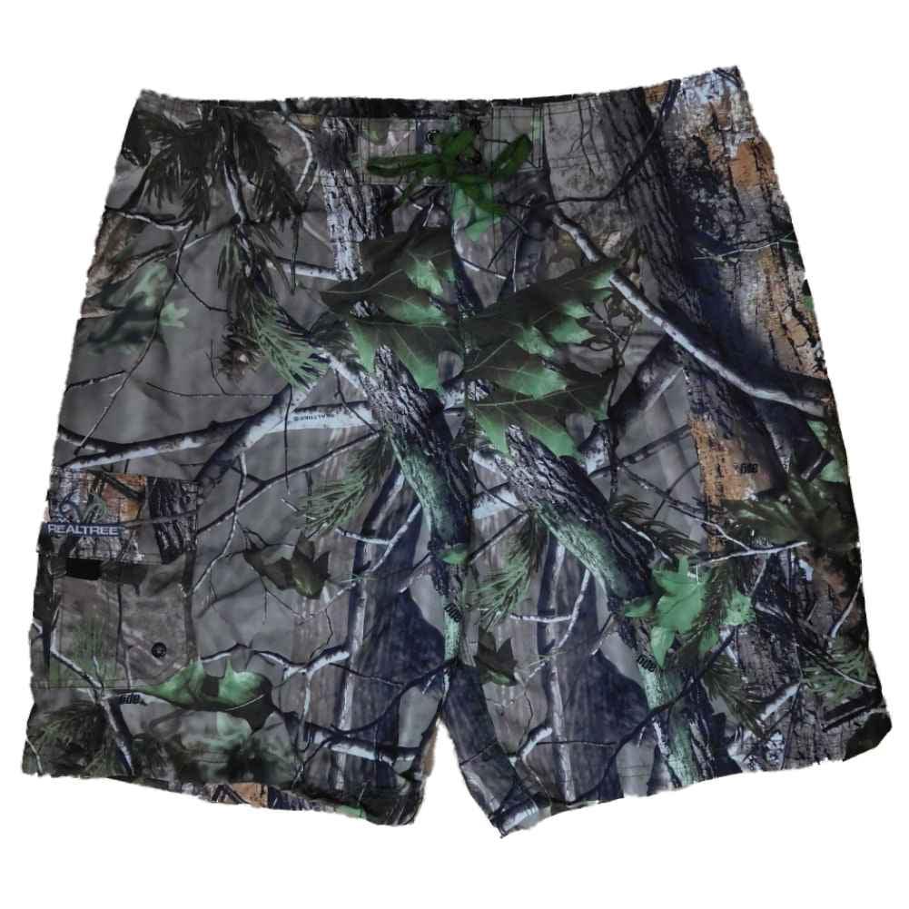 Realtree Mens APG HD Camouflage Board Shorts Swim Trunks