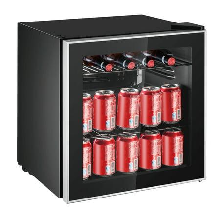 Frigidaire 70 Can Beverage Refrigerator, (EFMIS164-CU) Black (Small Refrigerator Glass)