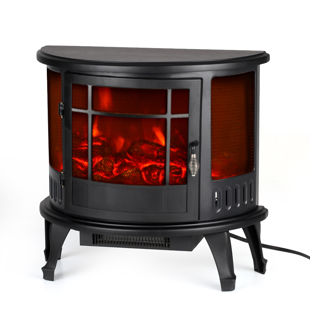 """Decdeal Free Standing 23""""*11""""*22"""" Electric Stove Fireplace Heater Fire Flame Adjustment Temperature... by"""