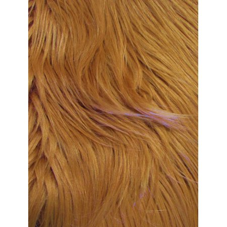 Monster Faux Fake Fur Fabric / Amber / Sold By The Yard/Ecoshag™ *** Free Shipping