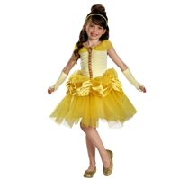 Disney Princess Toddler & Little Girls Belle Costume with Yellow Ball Gown
