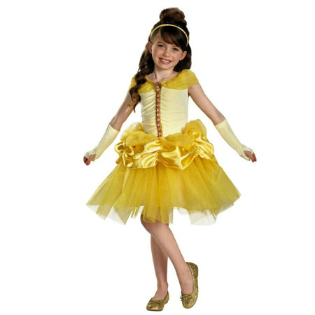Disney Princess Toddler & Little Girls Belle Costume with Yellow Ball Gown (Disney Belle Costume Toddler)