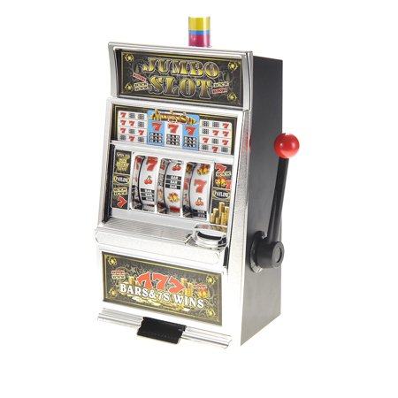 Lucky Cat Bank - Lucky Sevens Jumbo Slot Machine Bank Replica Toy Realistic casino sound & lights