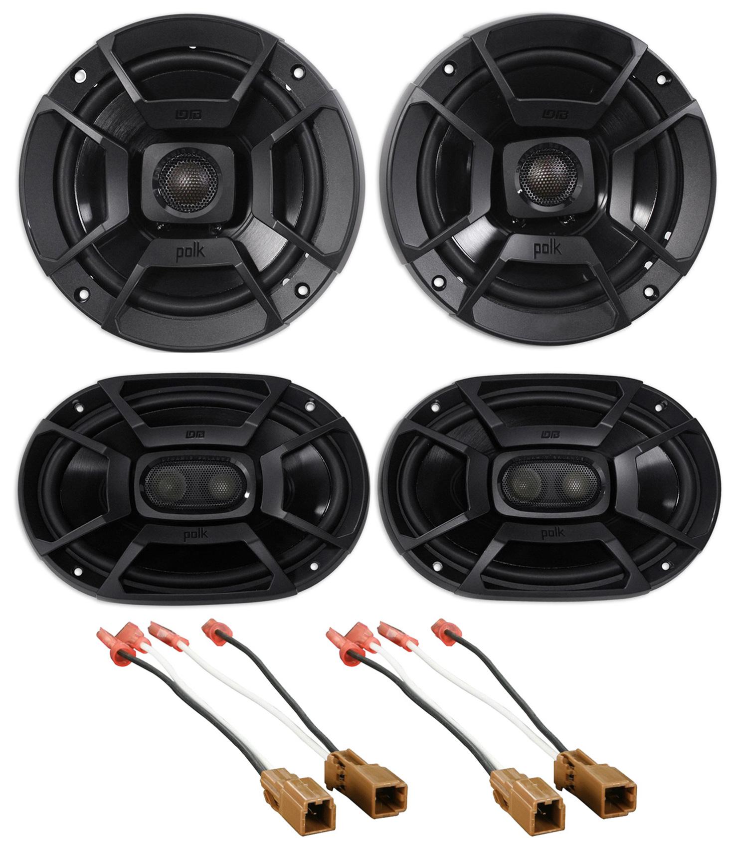 Kicker Front+Rear Speaker Replacement Kit For 2000-2004 Nissan Xterra