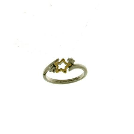 Hallmark stainless steel twotone star ring size 6 for Star hallmark on jewelry