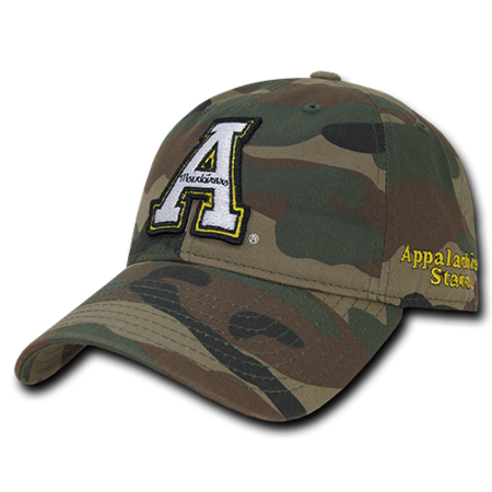 Mountaineers Baseball (NCAA Appalachian State University Mountaineers Relaxed Camo Baseball Caps)