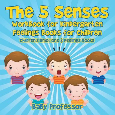 The 5 Senses Workbook for Kindergarten - Feelings Books for Children Children's Emotions & Feelings Books (Paperback) - Halloween Arts And Crafts Kindergarten