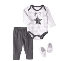 Bon Bebe Newborn Baby Boy Bodysuit 3pc Outfit Set