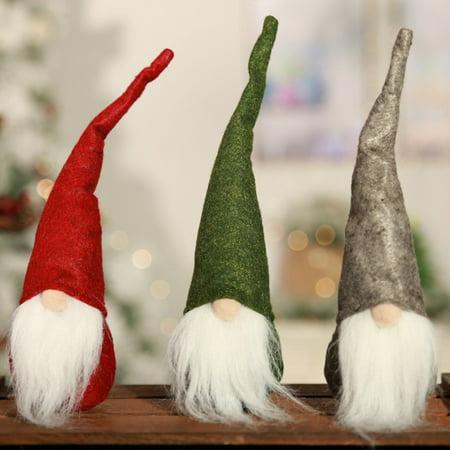 Big Saving/Clearance, JLONG 1Pcs Mini Christmas Swedish Tomte Gnome Hmoe Decor, Gray