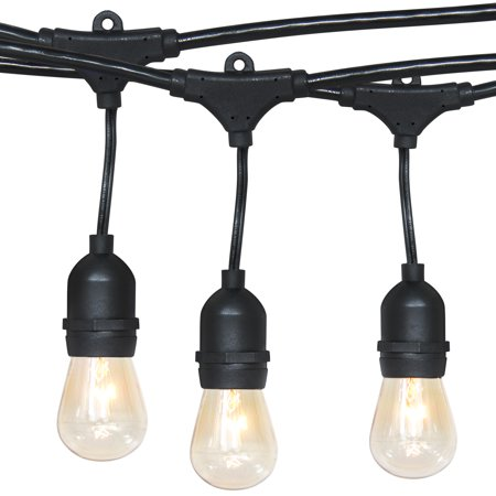 Best Choice Products Outdoor Commercial Grade 24-foot Weatherproof Hanging Patio String Lights w/ Energy Efficient Design, Black ()