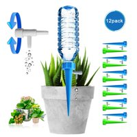 Reactionnx Plant Self Spikes System with Slow Release Control Valve Switch, Automatic Vacation Drip Irrigation Watering Devices,Care Your Indoor Outdoor Home Office Plants-12 Pack