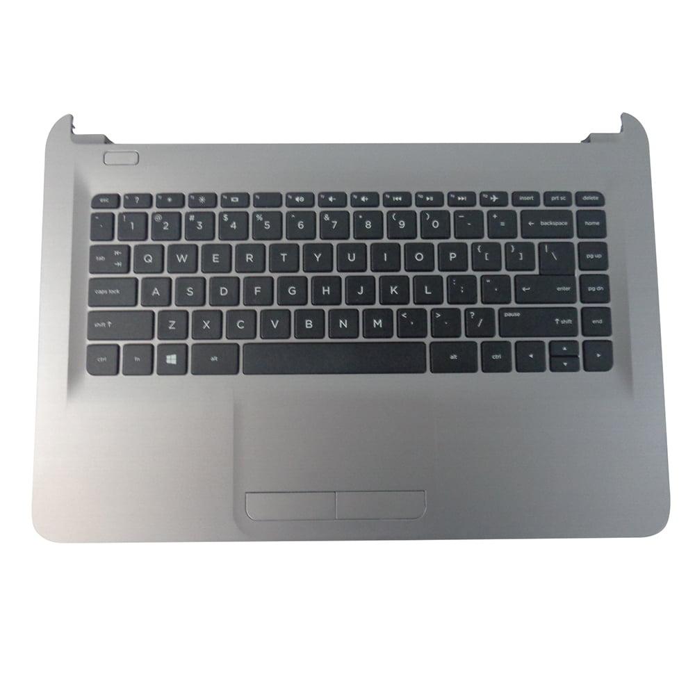 Genuine HP 14-AM 14T-AM 14-AN Turbo Silver Palmrest Keyboard & Touchpad 858078-001