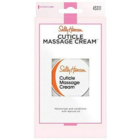 2 Pack - Sally Hansen Cuticle Massage Cream 0.4 (Nail Conditioning Massage Cream)