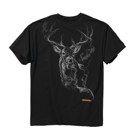 buck wear smoke deer tshirt large black