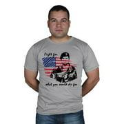 Fox Outdoor 64-4061 L Pride Mens T-Shirt, Grey - Large