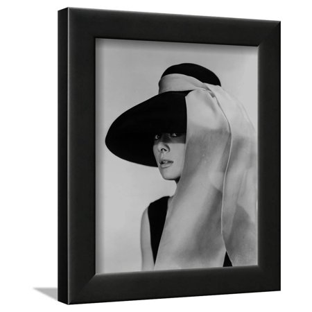 Audrey Hepburn Breakfast at Tiffany's Portrait Framed Print Wall Art By Movie Star - Breakfast At Tiffanys Star