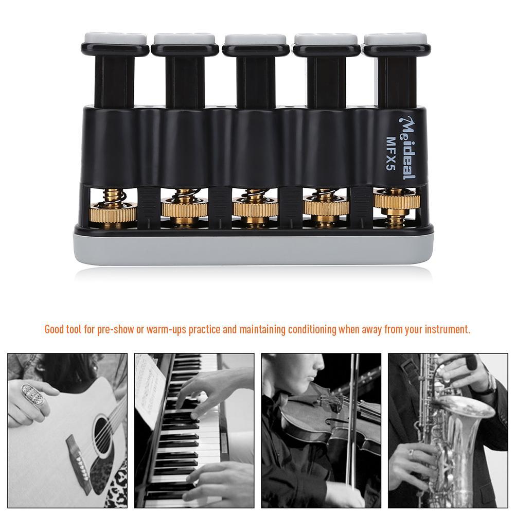 Yosoo Variable Hand Finger Strength Tension Exerciser Grip Trainer for Piano Guitar, Finger Exerciser, Hand Exerciser