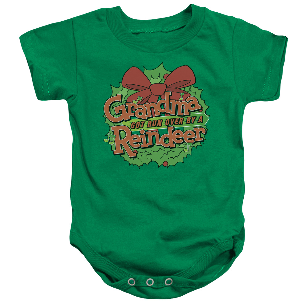 Grandma Got Run Over By A Reindeer Grandma Logo Unisex Baby Snapsuit