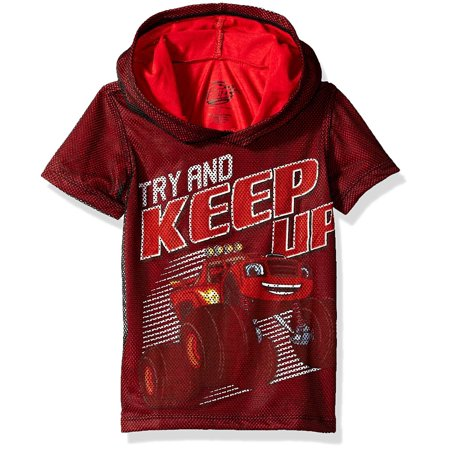 Nickelodeon Boys' Toddler Blaze and The Monster Machines Hooded T-Shirt, red, -