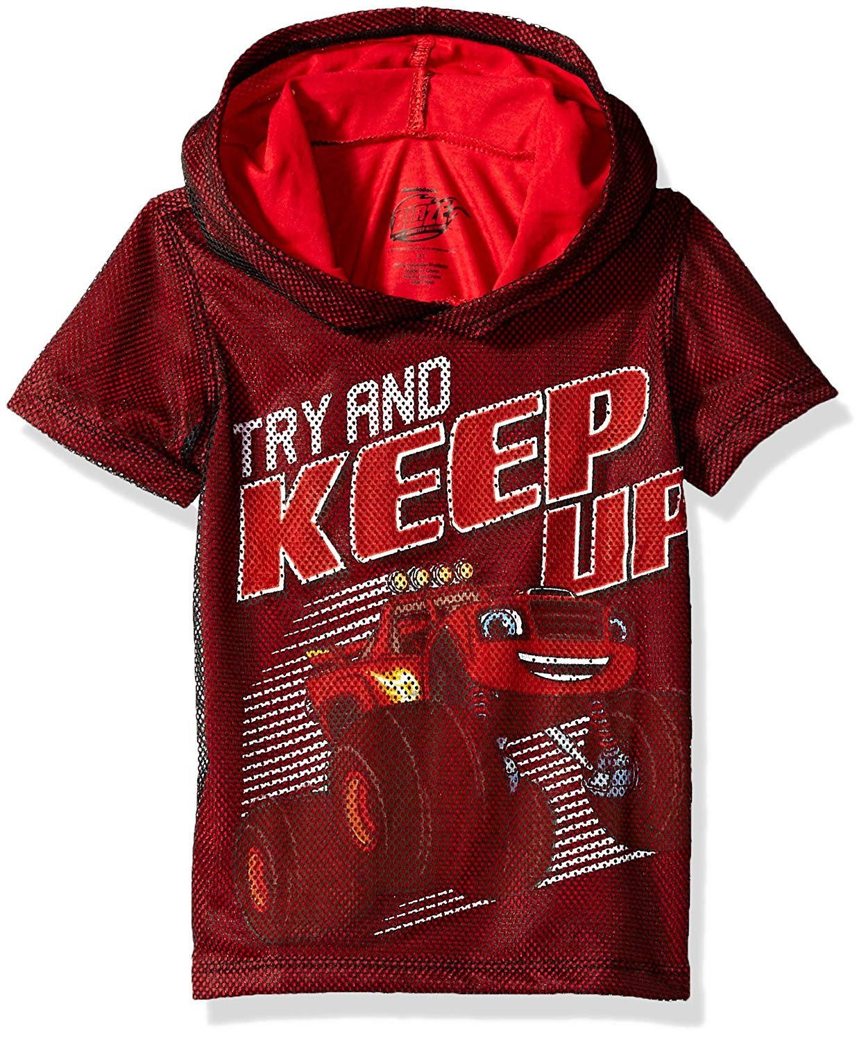 Nickelodeon Boys' Toddler Blaze and The Monster Machines Hooded T-Shirt, red, 3T