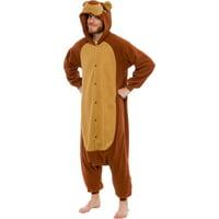 SILVER LILLY Unisex Adult Plush Teddy Bear Animal Halloween Costume Pajamas